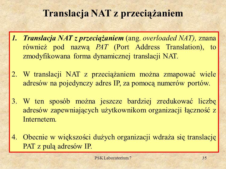 Translacja NAT z przeciążaniem