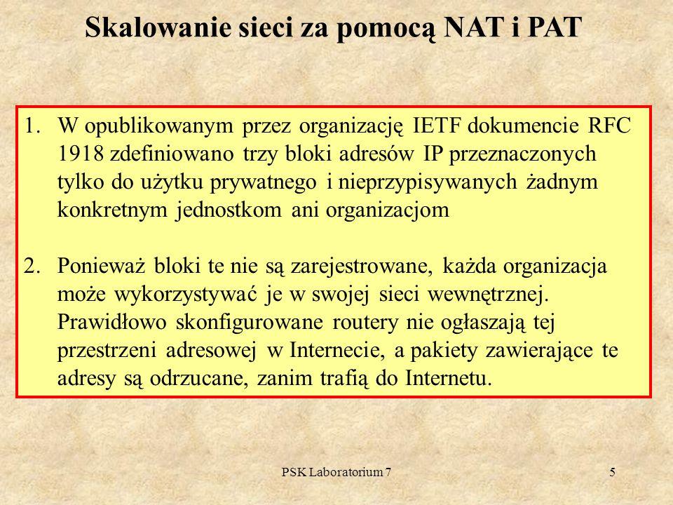 Skalowanie sieci za pomocą NAT i PAT