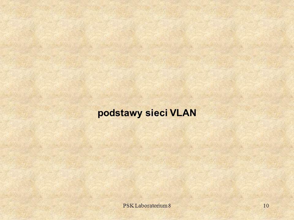 podstawy sieci VLAN PSK Laboratorium 8