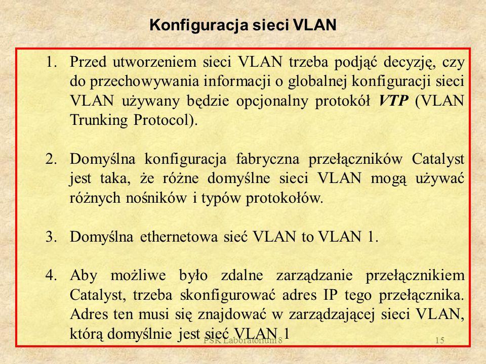 Konfiguracja sieci VLAN