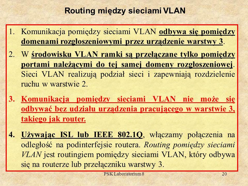 Routing między sieciami VLAN