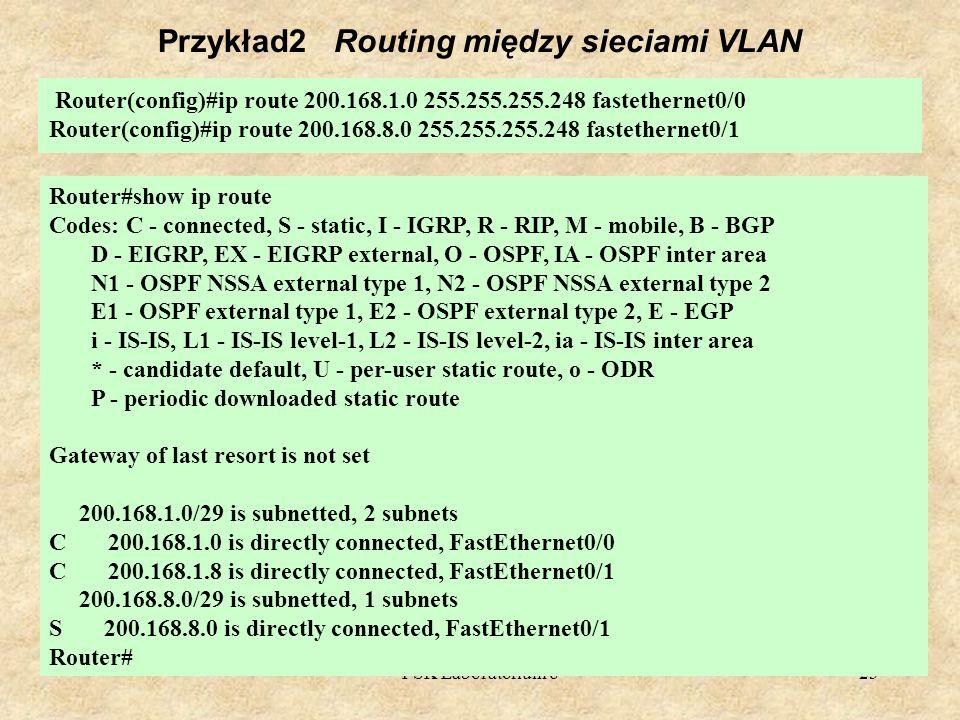 Przykład2 Routing między sieciami VLAN