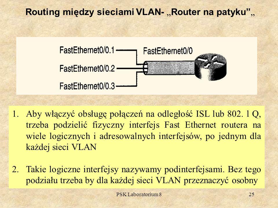 "Routing między sieciami VLAN- ""Router na patyku """