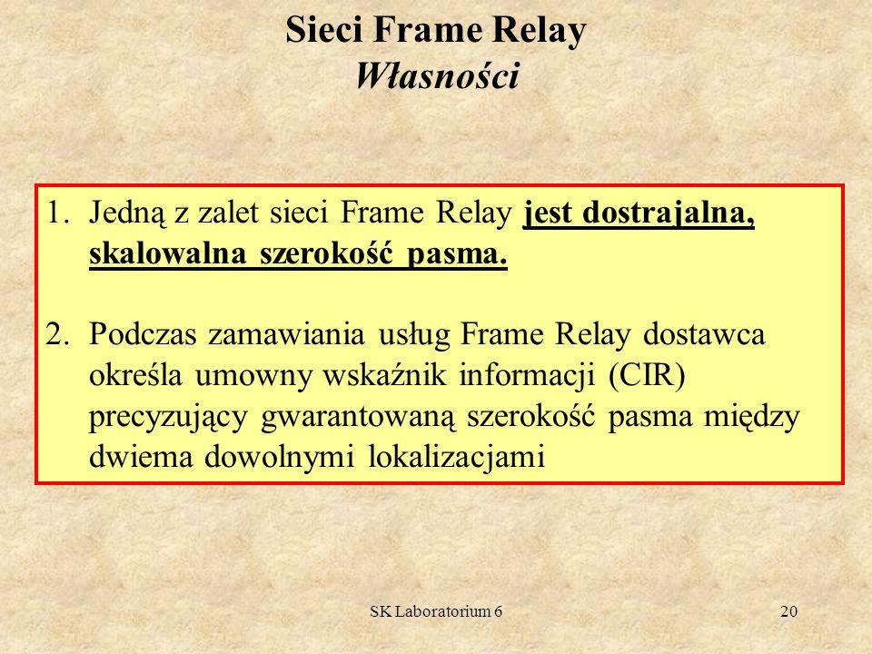 Sieci Frame Relay Własności