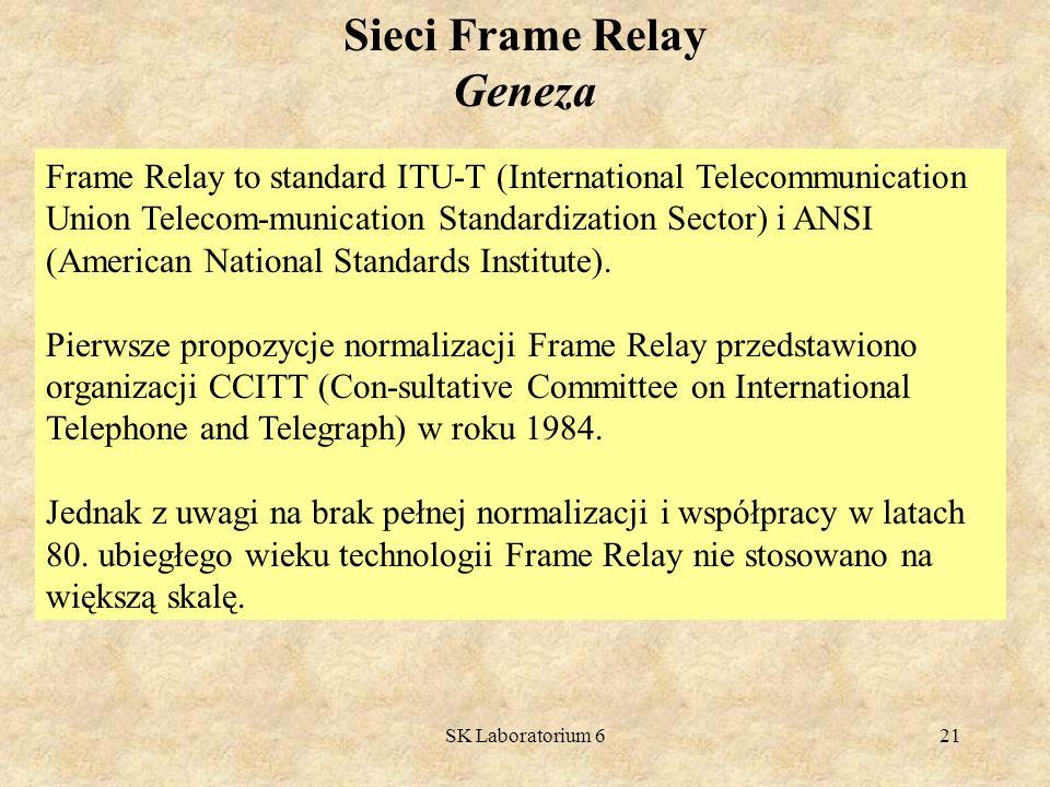 Sieci Frame Relay Geneza