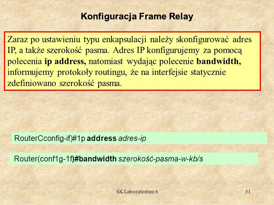 Konfiguracja Frame Relay Konfiguracja Frame Relay