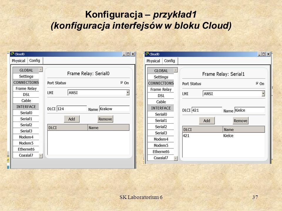 Konfiguracja – przykład1 (konfiguracja interfejsów w bloku Cloud)
