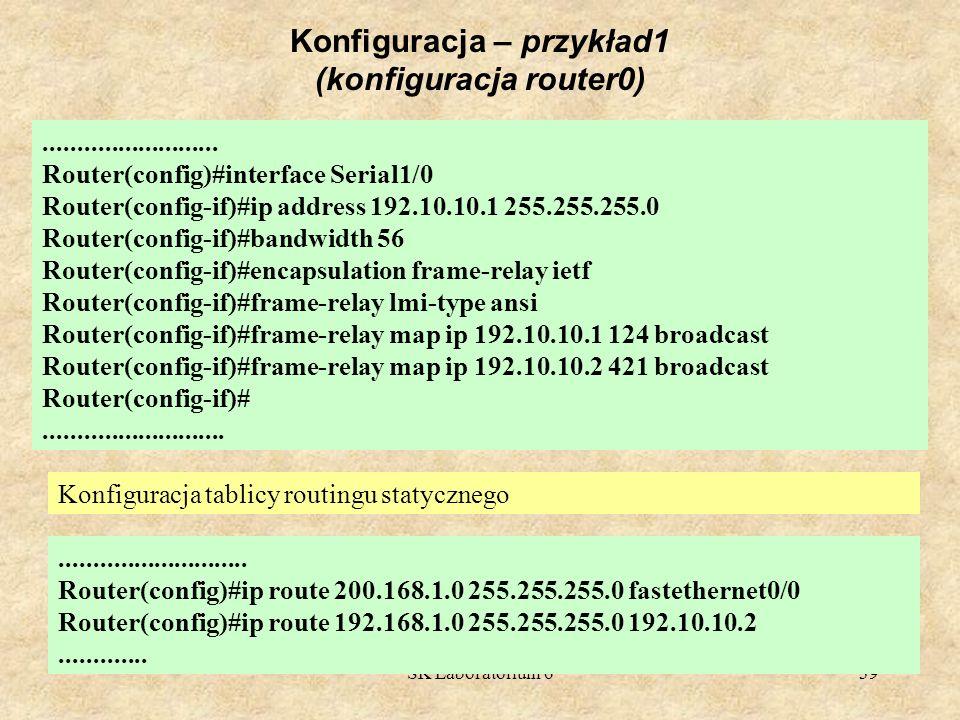 Konfiguracja – przykład1 (konfiguracja router0)