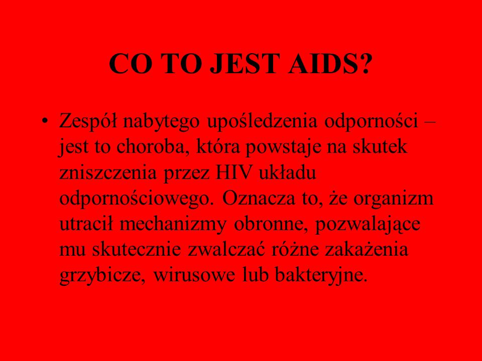 CO TO JEST AIDS