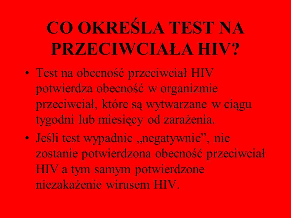 CO OKREŚLA TEST NA PRZECIWCIAŁA HIV