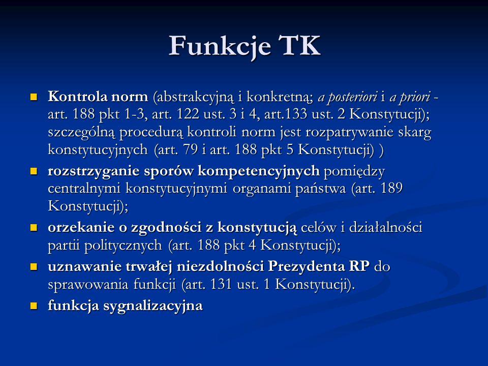 Funkcje TK