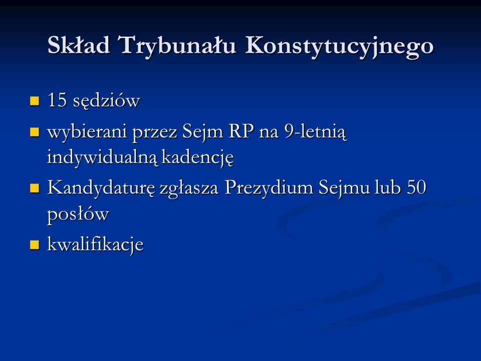 Skład Trybunału Konstytucyjnego