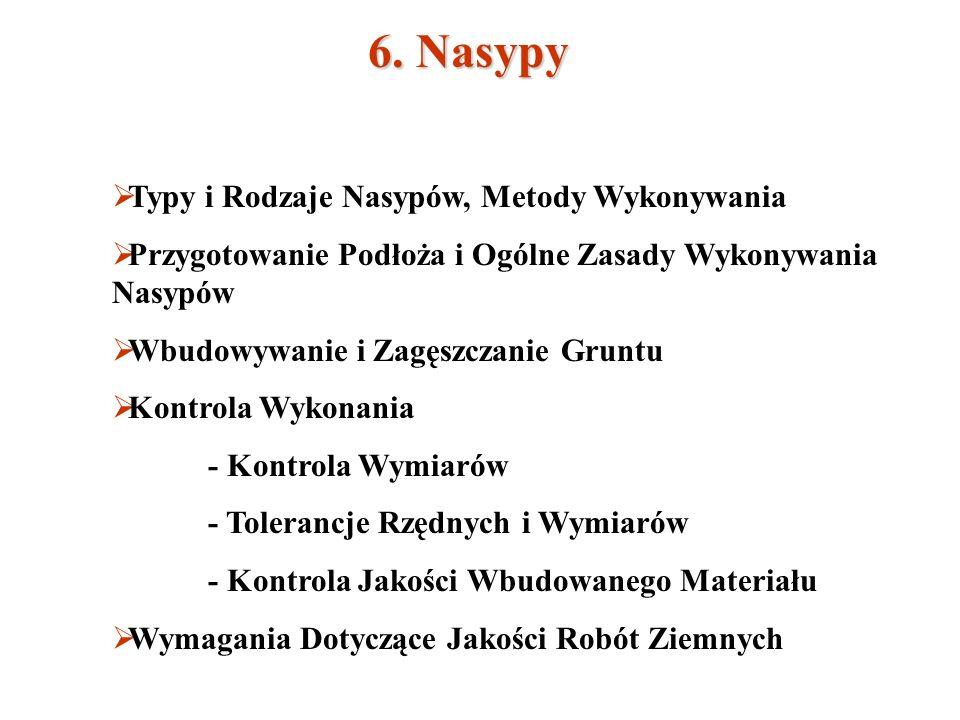 6. Nasypy Typy i Rodzaje Nasypów, Metody Wykonywania