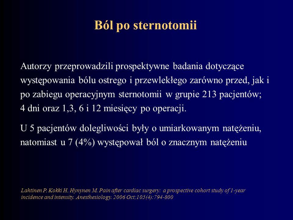 Ból po sternotomii