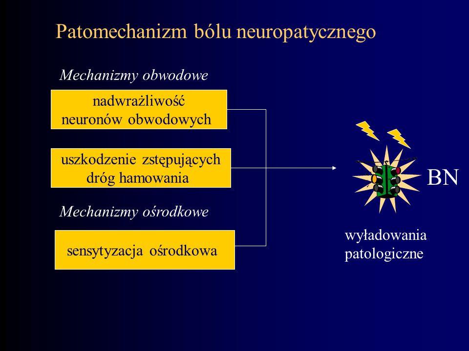 BN Patomechanizm bólu neuropatycznego Mechanizmy obwodowe