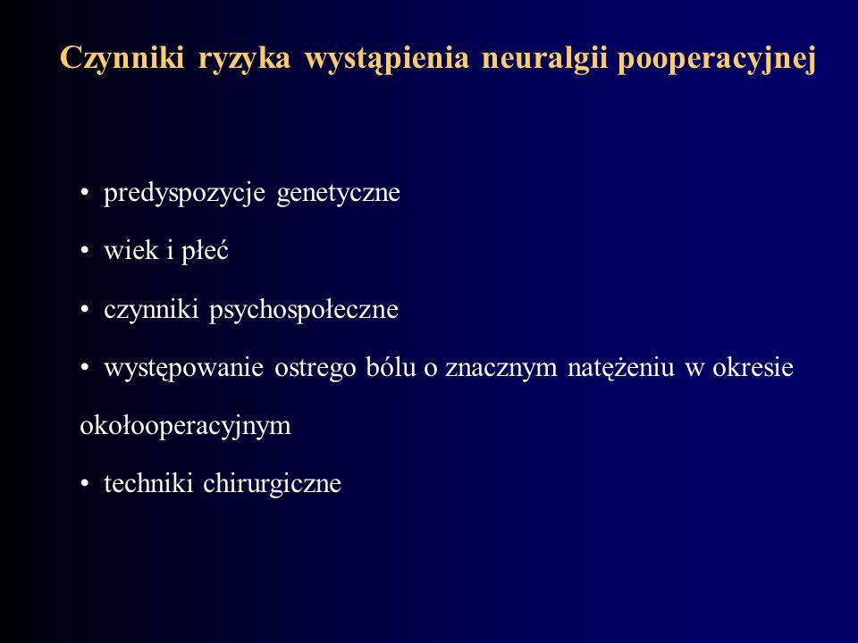 Czynniki ryzyka wystąpienia neuralgii pooperacyjnej