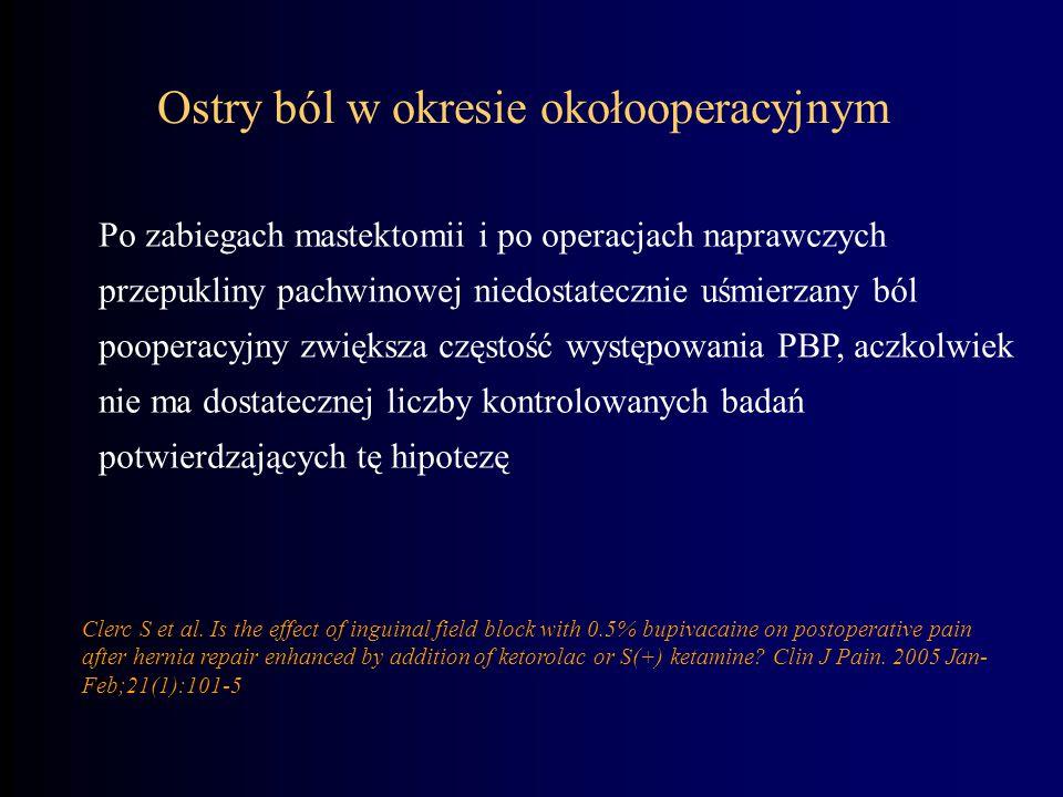 Ostry ból w okresie okołooperacyjnym