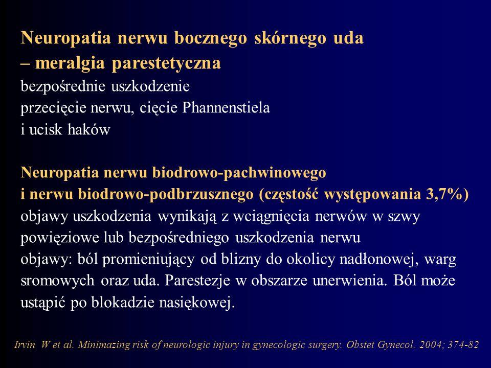 Neuropatia nerwu bocznego skórnego uda – meralgia parestetyczna