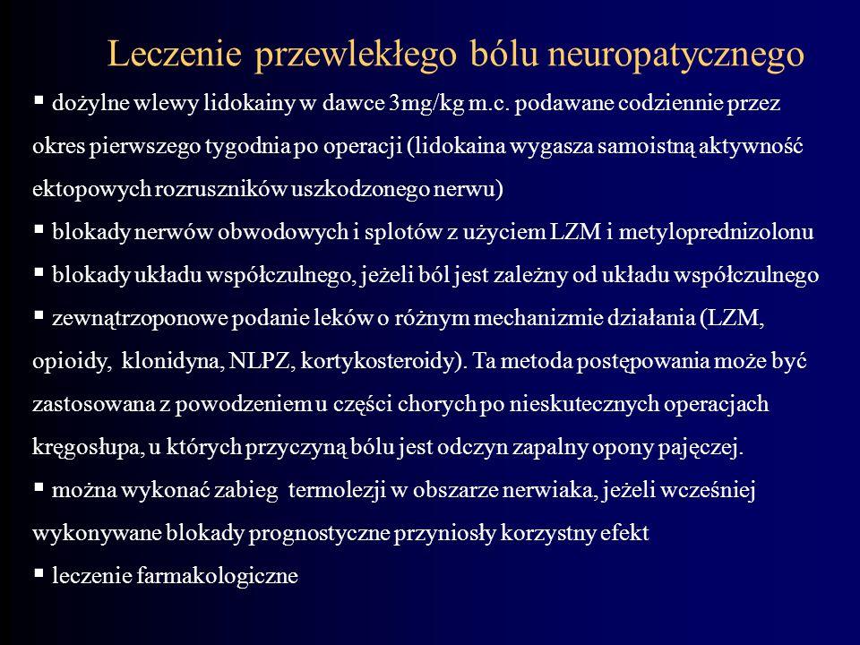 Leczenie przewlekłego bólu neuropatycznego