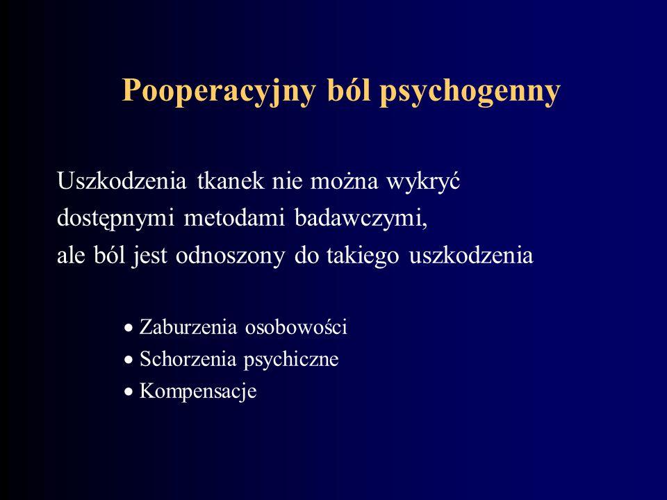 Pooperacyjny ból psychogenny