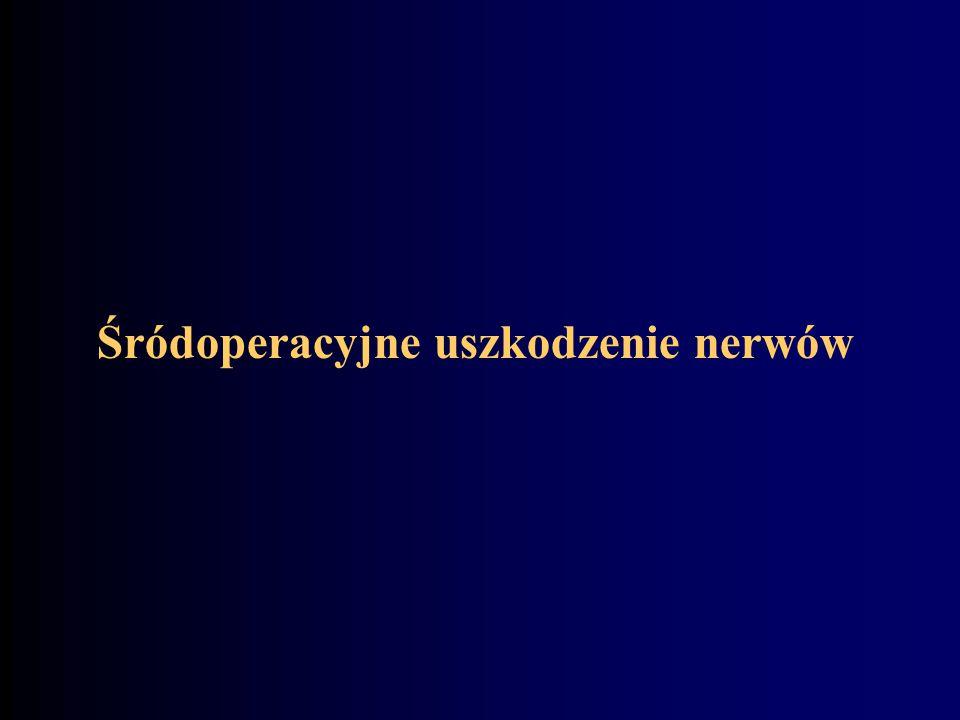 Śródoperacyjne uszkodzenie nerwów