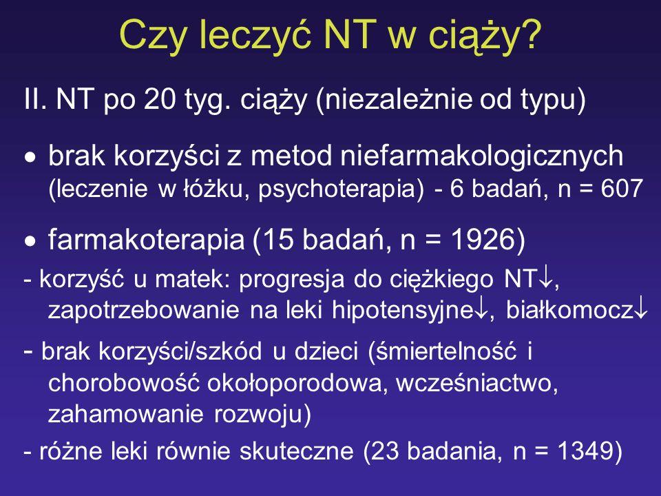 Czy leczyć NT w ciąży II. NT po 20 tyg. ciąży (niezależnie od typu)