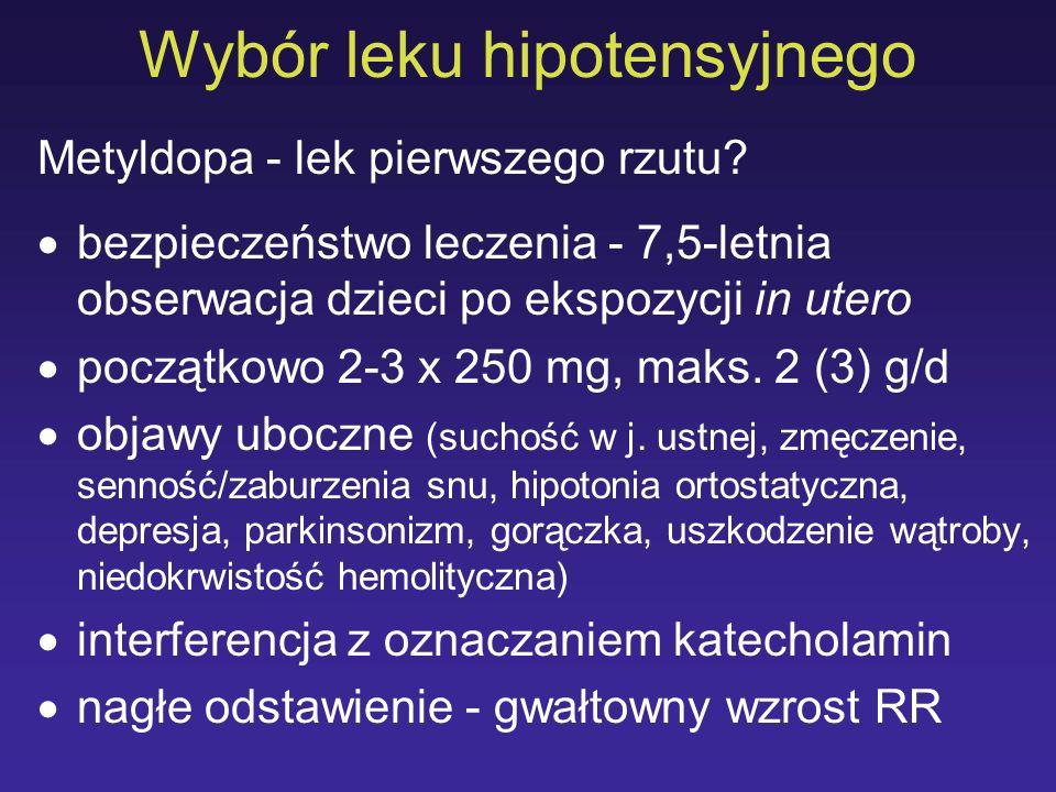 Wybór leku hipotensyjnego