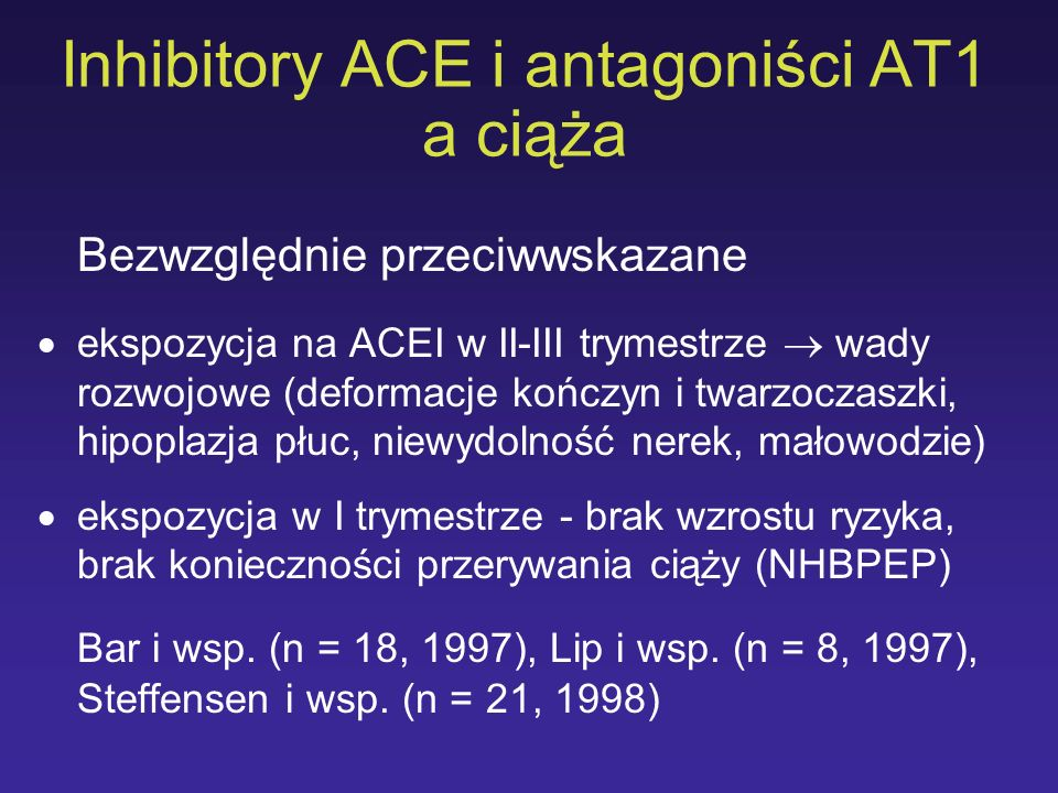 Inhibitory ACE i antagoniści AT1 a ciąża