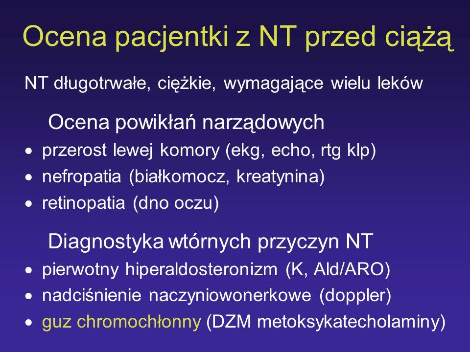 Ocena pacjentki z NT przed ciążą