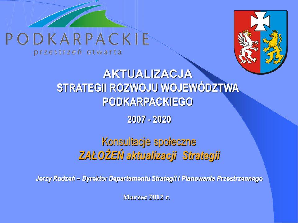 2007 - 2020 AKTUALIZACJA STRATEGII ROZWOJU WOJEWÓDZTWA PODKARPACKIEGO