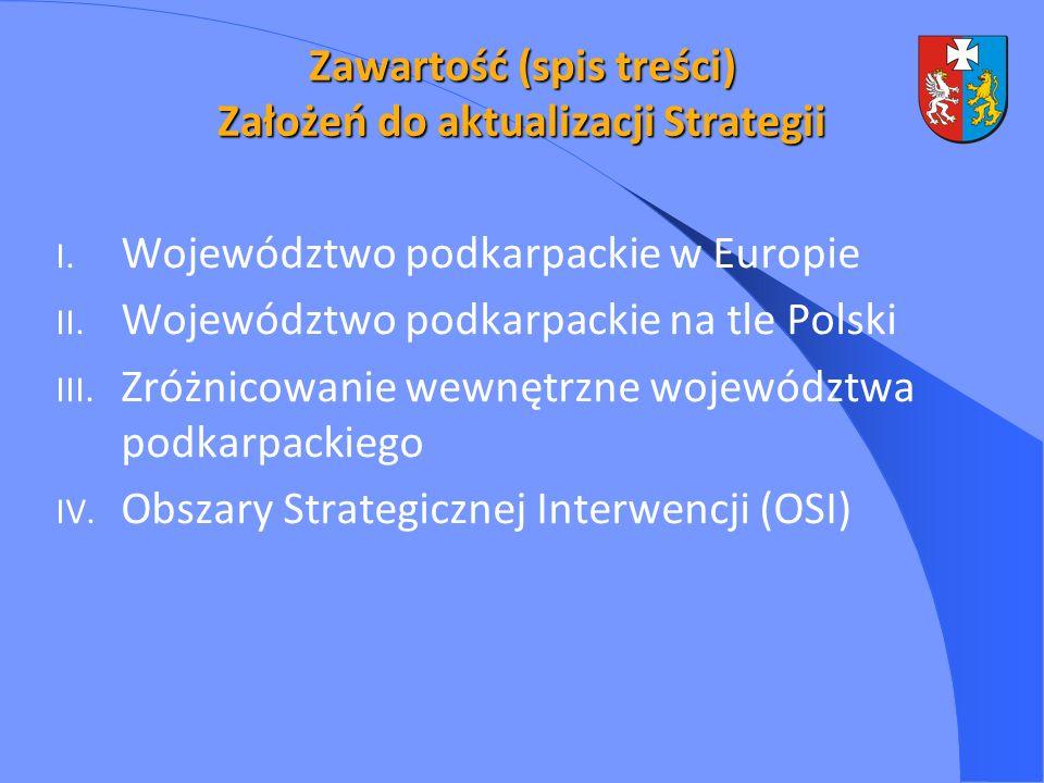 Zawartość (spis treści) Założeń do aktualizacji Strategii