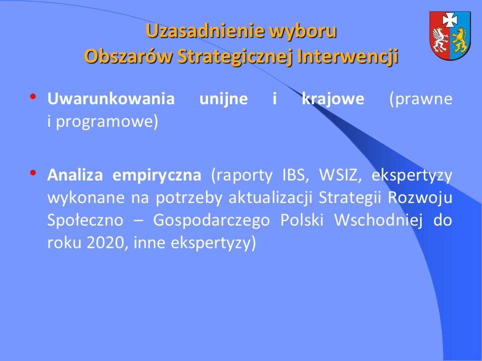 Uzasadnienie wyboru Obszarów Strategicznej Interwencji