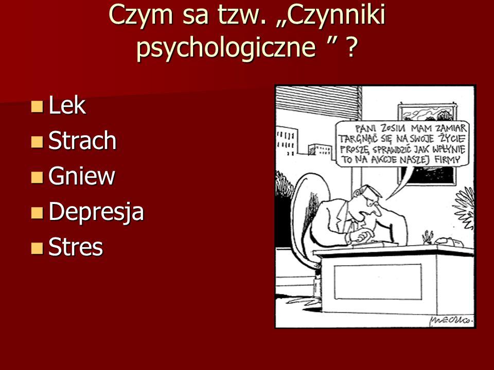 """Czym sa tzw. """"Czynniki psychologiczne"""