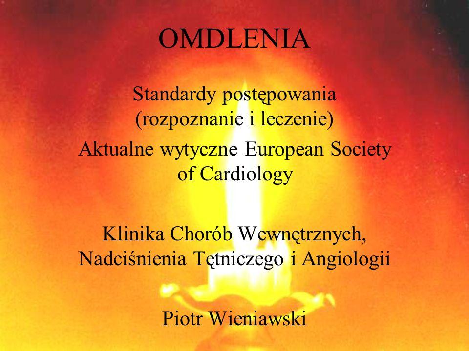 OMDLENIA Standardy postępowania (rozpoznanie i leczenie)