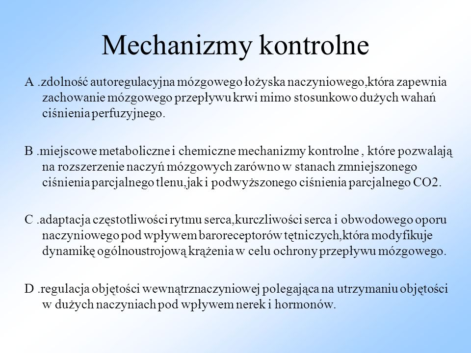 Mechanizmy kontrolne
