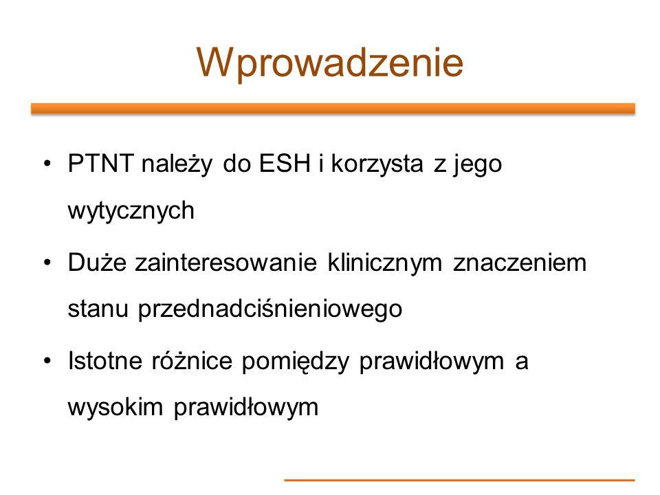 Wprowadzenie PTNT należy do ESH i korzysta z jego wytycznych