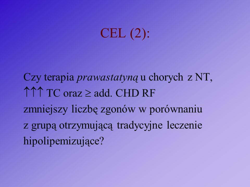 CEL (2): Czy terapia prawastatyną u chorych z NT,