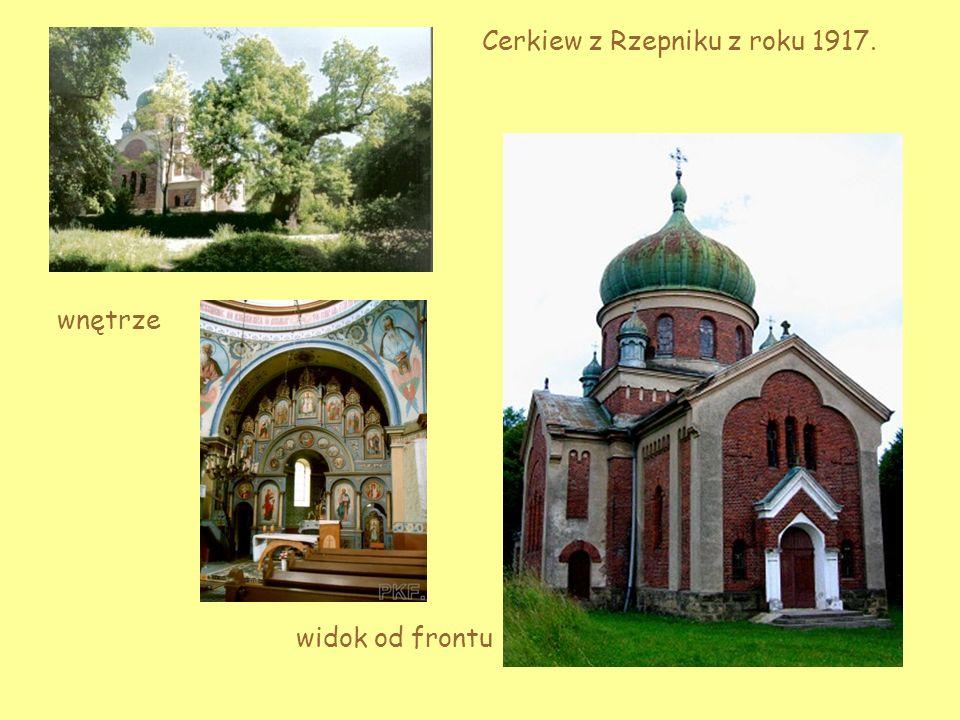 Cerkiew z Rzepniku z roku 1917.