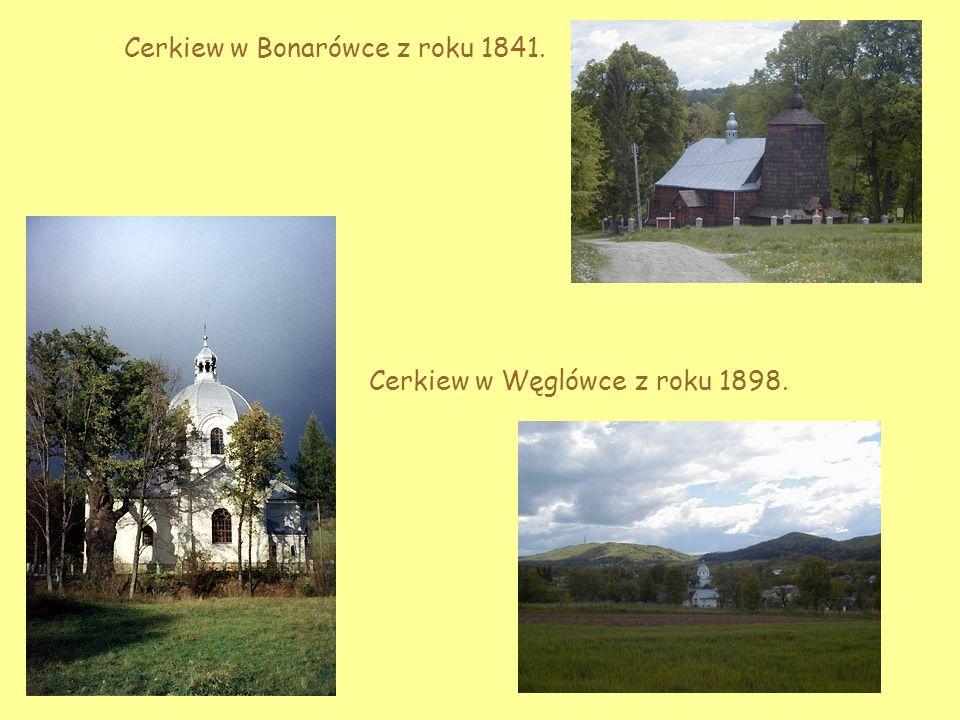 Cerkiew w Bonarówce z roku 1841.