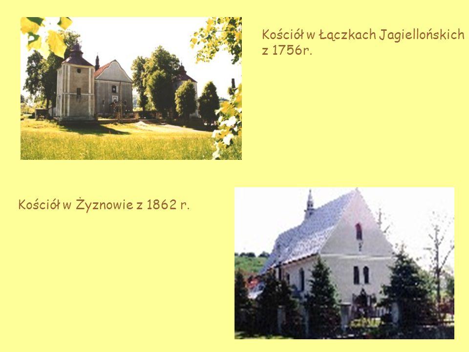 Kościół w Łączkach Jagiellońskich z 1756r.