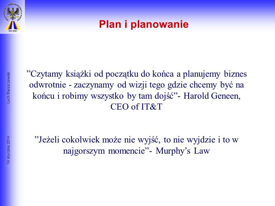 Plan i planowanie Lech Barszczewski.