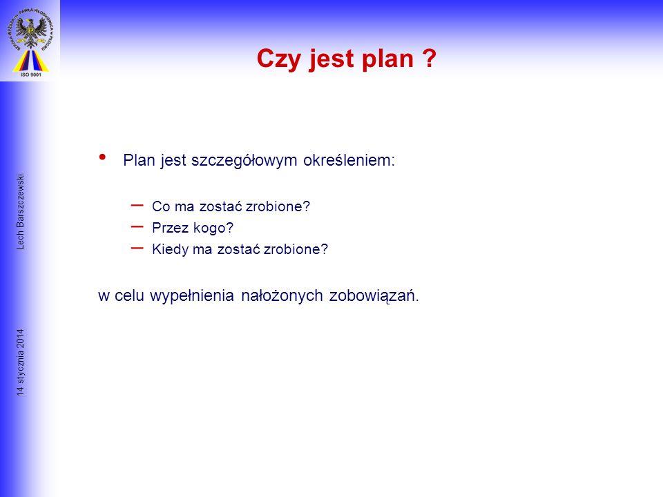 Czy jest plan Plan jest szczegółowym określeniem: