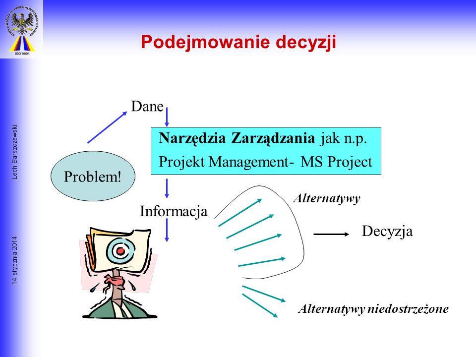 Podejmowanie decyzji Dane Narzędzia Zarządzania jak n.p.