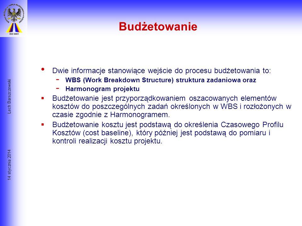 Budżetowanie Lech Barszczewski. Dwie informacje stanowiące wejście do procesu budżetowania to: