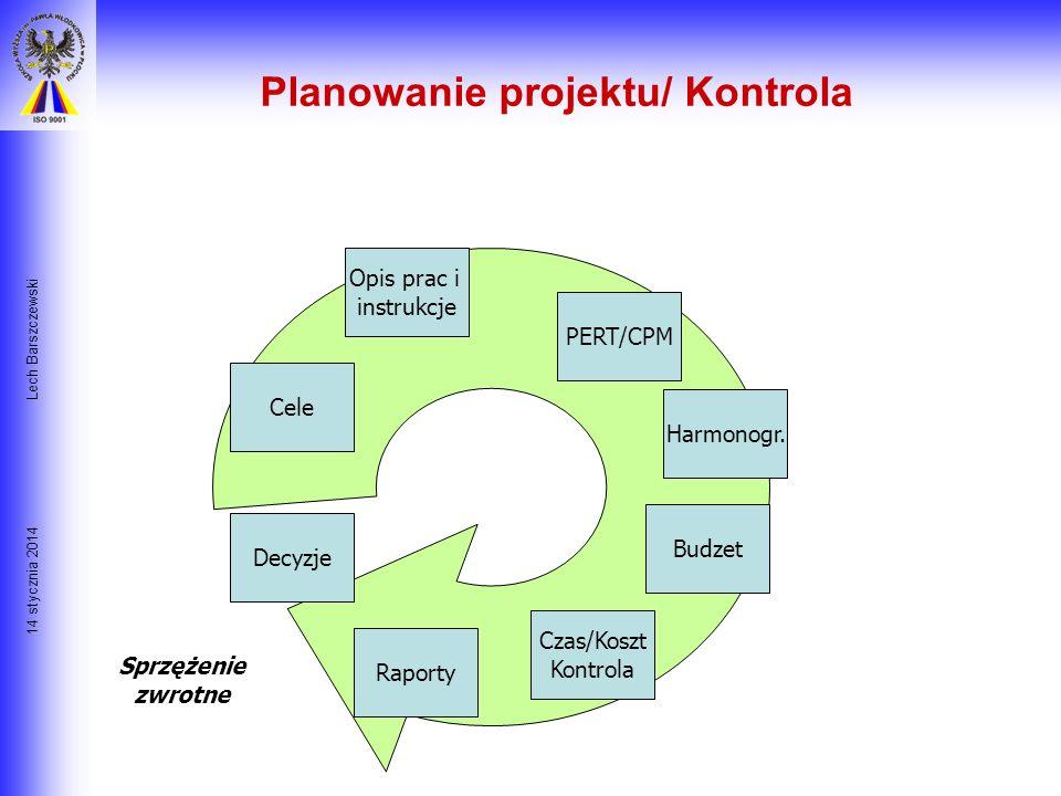 Planowanie projektu/ Kontrola