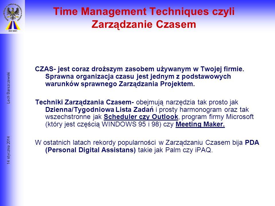 Time Management Techniques czyli Zarządzanie Czasem