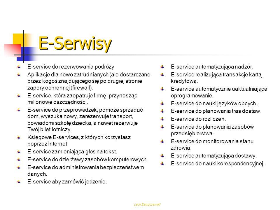 E-Serwisy E-service do rezerwowania podróży
