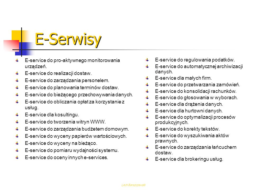 E-Serwisy E-service do pro-aktywnego monitorowania urządzeń.