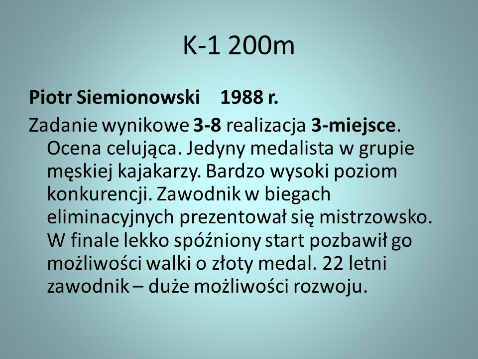 K-1 200m Piotr Siemionowski 1988 r.