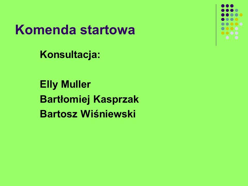 Komenda startowa Konsultacja: Elly Muller Bartłomiej Kasprzak